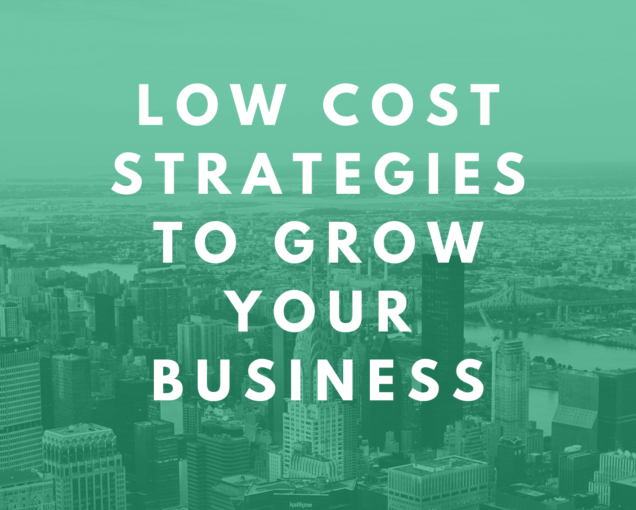 Low-cost strategies for your business